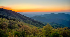 Springtime at Scenic Blue Ridge Parkway Appalachians Smoky Mountains (DigiDreamGrafix.com) Tags: old flowers trees sunset sky usa mountain tree nature horizontal clouds america sunrise landscape outdoors evening nc spring ancient scenery seasons unitedstates horizon blossoms scenic may northcarolina mount april vista layers mitchell blooms wilderness peaks overlook appalachia blueridgeparkway ridges greatsmokymountains vast appalachians wnc gsmnp