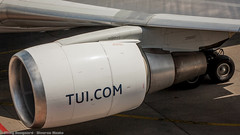 TUI NL 767-300 engine close-up (Nicky Boogaard Photography) Tags: classic amsterdam wow airport aviation air united croatia delta airbus boeing airlines schiphol a330 tui airfrance 767 737 astana a319 dmaviation