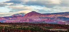 Red Cliffs and Snowy Peaks (Thomas DeHoff) Tags: park red panorama snow utah sony capital cliffs national reef a580