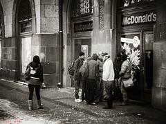 Refugees [2010] (FSUBF) Tags: refugees 2010 2016 andrejemomilovi andreje momilovi subotica szabadka vojvodina street sepia olympus olympusdigitalcamera winter monochrome mono snow cold people blur
