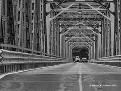 Delaware Crossing (Visions by Vincent) Tags: bridge blackwhite newjersey pennsylvania ngc frenchtown greatphotographers