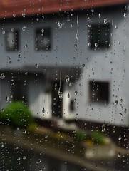 My living-room window pane (:Linda:) Tags: rain germany village drop thuringia droplet neighbour windowpane brden