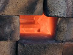 DSCN4204 (teddmcdonah) Tags: hammering bonding arizonastateuniversity 2016 mokumegane airhammer patterning metalsclub diffusing patternedmetals mokumeganeworkshop diffusionbondedmokume liquidphasediffusionbonding