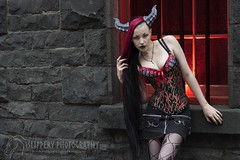 Female Wyvern (6) (Dezmin) Tags: rock drag photography model punk king alt alice horns cooper loki demon devil corset spine tentacle mx slippery alternative eloquent genderfuck