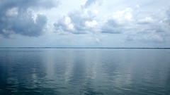 Appreciating Nature (soniaadammurray - SLOWLY TRYING TO CATCH UP) Tags: sea sky seascape nature beauty clouds reflections calm boating land digitalphotography mondayblues blueappreciation
