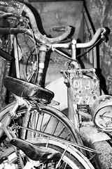Un cimetire de vlos (vavie2012) Tags: broken cementerio wheels bikes antiguos silla handlebar bicyclette bicicletas vieux rayons cementery vlos roue viejos guidon bicis neumticos rotos manillar casss scelle sealsbike