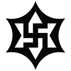 six pointed star | square swastika #8 (synartisis) Tags: symbol swastika raelian