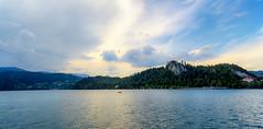 Hello, Bled (Tom Mrazek) Tags: sunset summer sky castle nature colors architecture clouds forest landscape evening vivid sunny slovenia bled drama