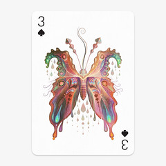 Playing_Card (VLADIMIR... . . .) Tags: playingartscontest playingarts illustration 3ofspades spades moth butterfly nature colors color watercolors coloredpencils artwork vladimirstankovic illustrator