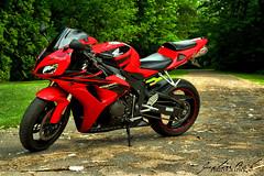 cbr1000rr (justin bak) Tags: red summer canada black bike speed honda outside outdoors photography nikon montreal motorcycle cbr supersport cbr1000rr yoshimura bikelife speedbike d3100