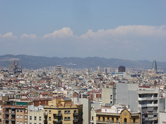 The view from Montjuc (stillunusual) Tags: barcelona travel sky urban cloud landscape spain cityscape bcn streetphotography bluesky catalonia catalunya sagradafamilia montjuic montjuc urbanlandscape sagradafamlia urbanscenery 2016 travelphotography travelphoto travelphotograph