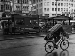 Rainy Day, Marktplatz, Basel (1mpl) Tags: bw monochrome switzerland basel marketsquare travelphotography niksilverefexpro iphoneography