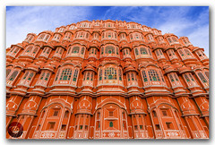 Hawa Mahal Palace (Palace of Winds)! (KS Photography!) Tags: pink windows red colour building heritage history monument colors architecture clouds facade vintage sandstone colorful exterior outdoor interior air famous landmark palace structure historic dome breeze shape decor jaipur havamahal attraction rajasthan hawamahal islamic pinkcity pyramidal mughal windpalace finials latticework hindugod jharokha palaceofwinds rajputarchitecture paronamic architecturalheritage fivestorey hindurajput crownofkrishna