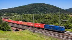 EGP 151 078-3 on Hamburg Sd containers at Gemnden am main (37001 overseas) Tags: 1510783 151078 gemndenammain egp eisenbahngesellschaft potsdam dgs ingolstadt