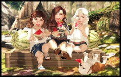 Camping with mine Cuzzy and Sisser (delisadventures) Tags: camping camp dog sunshine fashion fun blog outdoor sunny roadtrip blogger watermelon secondlife besties fashin slfashion toddleedoo toddleedoos