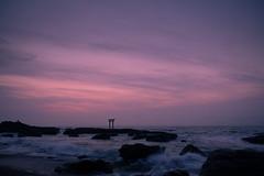 sky and water (semitune) Tags: sunrise dawn ocean seascape tide wave beach japan