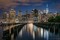 View from Brooklyn (RyanKirschnerImages) Tags: nyc newyorkcity longexposure ny newyork skyline architecture brooklyn night reflections cityscape skyscrapers manhattan