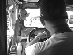 Manong driver (Kiteeeee) Tags: road street portrait man public photography publictransportation jeep candid philippines streetphotography transportation vehicle publictransport jeepney