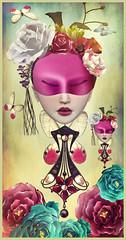 MiniMe (Jewel Appletor aka Karalyn Hubbard) Tags: flowers art fly artwork artist mask flood dream surreal twin jewelry fantasy earrings jewels whimsical minime headress lwl kungler lagyo dollcoco