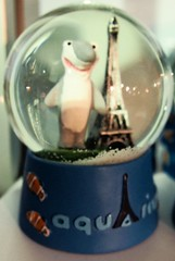 Sharks. Nemo. The Eiffel Tower and Snow when you shake it! (stephenweir) Tags: paris france shark nemo eiffeltower souvenir cheapsouvenirs parisaquarium aquariumgiftshop fauxfishart sitespecifickitch aquariumkitch sharkandeiffeltower