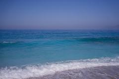 Sea view (aleksey_kondratiev) Tags: turkey fethiye oludeniz mediterranean sea water blue wave waves seashore rocks sky