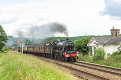 Going well (4486Merlin) Tags: england buildings europe unitedkingdom transport cottage steam signals railways northyorkshire leander gbr 45690 howsham wcrc rytc exlms lms6p5fjubilee eastyorkshireman