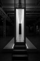 Architecture as Art (marco.pavoni) Tags: light blackandwhite bw black art architecture milano hangar bicocca architectureasart