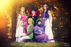 Zelda Family (Snowgrimm) Tags: girls game austria costume cosplay nintendo group convention link zelda ravio tloz