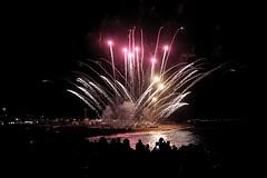 Festa Major de Sant Joan (explored 2016/06/28) (Fnikos) Tags: city sea sky people skyline night fireworks outdoor celebration nightview