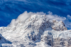 Elevated (Maddog Murph) Tags: travel blue nepal anna white mountain snow mountains cold art ice clouds trekking landscape photography cool wind hiking fine glacier adventure himalaya circuit chill annapurna himalayas cloudscape fury himalayan mountainscape purna venticular