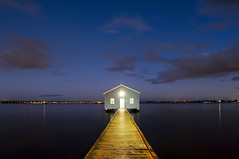 Crawley Edge Boatshed (Macr1) Tags: 61403327236 15000lumens architecture australia blueboathouse bluehour boatshed building builtenvironment cameras conditions crawley crawleyedgeboatshed d700 default exteriors facade faade geography jetty led lenses lightpainting location markmcintosh nikon nikond700 outdoor pcenikkor24mmf35ded river shed shore structure vlife wa water westernaustralia wharf macr237gmailcom markmcintosh