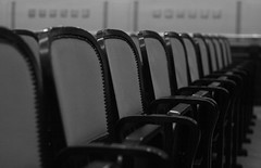 Theatre chairs (M a u r i c e) Tags: dof prague chairs line ef50mmf18ii lining municipalhouse