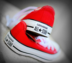 Red Converse (buckbeak888) Tags: chucks allstars redconverse