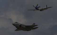 USAF Heritage Fly By (Hawkeye2011) Tags: riat 2016 raffairford aircraft aviation airshow milllitary lockheed martin f35a lightningii jet p51 mustang usaf