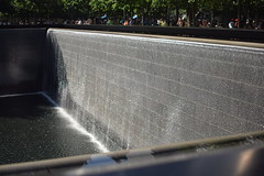 Ghost of a Building (Amelia Cacchione) Tags: 911 memorial new york city september 11 pool fountain people world trade center freedom tower nyc tourist