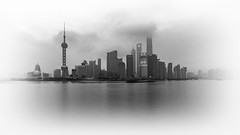 Shanghai (Lowcola) Tags: skyline skyscraper river shanghai widescreen pudong huangpu lujiazui 2015