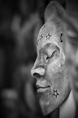 The Sleeper (matthileo) Tags: sleeping bw moon white black art face statue stars eyes closed flickr faces mask facebook eyelids twitter 500px tumblr katzmatt