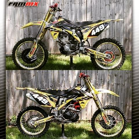 FAMmx Design Suzuki Split Graphics Check Out Our Website At Fammx Custom Motocross