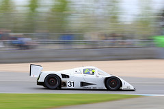 Silver Arrow II - Brake Glow (Hipwell Photography) Tags: mercedes glow sauber brake panning c11 doningtonpark