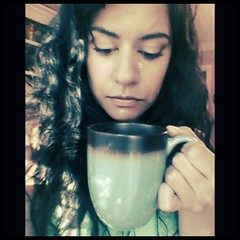 52:5:17:.consoling a cup of coffee. (darkhairedgirl) Tags: magichour