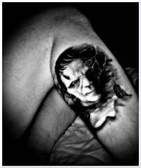 Uncomfortable Position (Rik Goldman) Tags: tattoo ink tattoos frankenstein horror infrared universal selfie