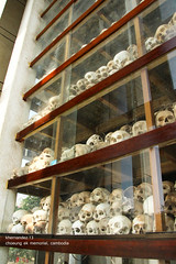 inside the choeung ek memorial stupa (shutterhappy (kabute mode)) Tags: skulls cambodia khmer bones phnompenh killingfields khmerrouge polpot choeungek choeungekmemorial phnompenhcambodia khmerrougevictims genocidevictims killingfieldsmemorial shutterhappy79 ayenh khernandez choeungekmemorialstupa