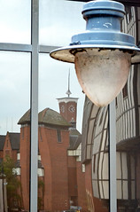 Natural reality (The Snige) Tags: building landscape mirror streetlight shropshire view distorted shrewsbury