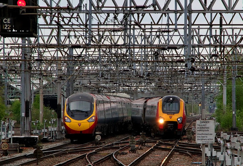 Virgin Trains pass at Crewe South
