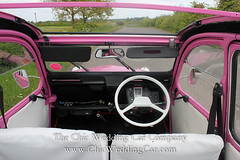 Rosie in the country-26 (magicalnights) Tags: pink wedding car derbyshire 2cv chic weddingcar shabbychicwedding sexyweddingcar 2cvweddingcar