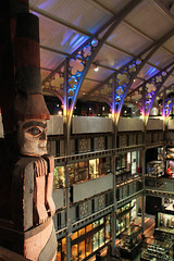 The Watcher (Nogatron) Tags: look museum lights colours shadows bright totem carving oxford totempole carvedwood oxforduniversity museumofnaturalhistory anthropology watcher pittrivers oversee oxfordcity