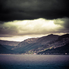 Storm (Daisy Swain) Tags: sea summer seascape west water sunshine ferry clouds landscape scotland clyde stormy hills gourock dunoon 18135mm canon60d argylllandbute