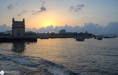 Gateway of India, Mumbai ( Rizwan Mithawala) Tags: sea india monument architecture clouds sunrise bay nikon nat crop tc bombay gateway dodge arabian nikkor mumbai drama copy colaba rizwan hp18 strtch d5100 mithawaladsc015123def small1600wm