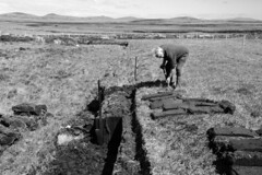 Peat Cutting (Malaclete) Tags: scotland north peat cutting mackinnon uist hebrides cubby tarasgeir tairsgear