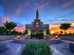 LDS Draper Temple at Sunset